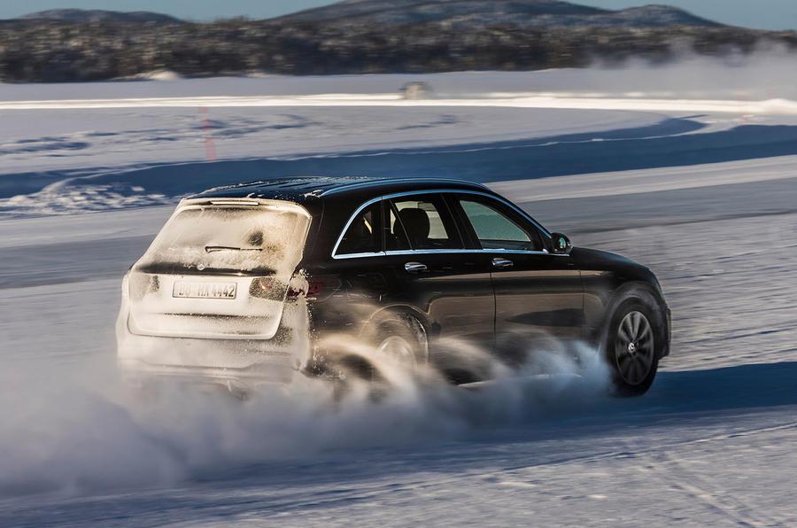 Mercedes-Benz GLC 300 2019 prototype drive - hero rear