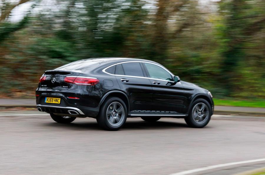 Mercedes-Benz GLC 300 2020 UK first drive review - hero rear
