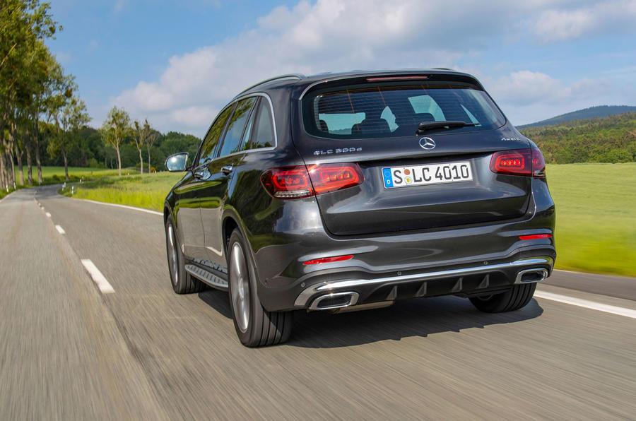Mercedes-Benz GLC 300d 2019 first drive review - hero rear