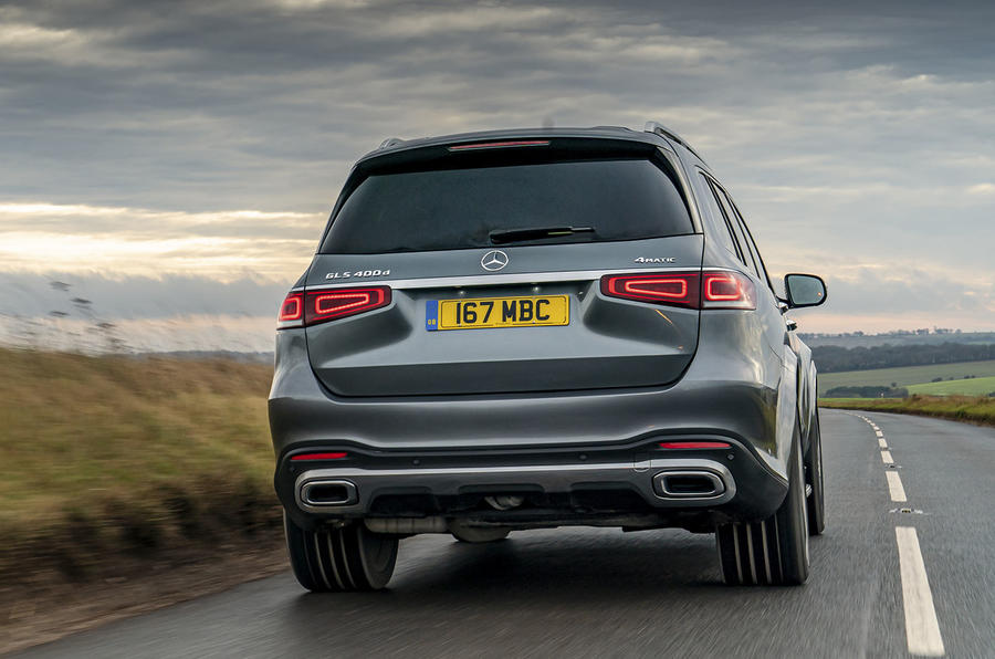 Mercedes-Benz GLS 400d 2019 UK first drive review - hero rear