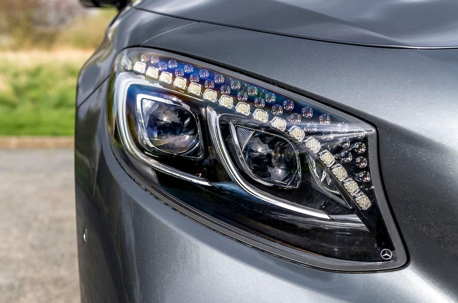 Mercedes-Benz S560 Coupe 2018 UK review headlights