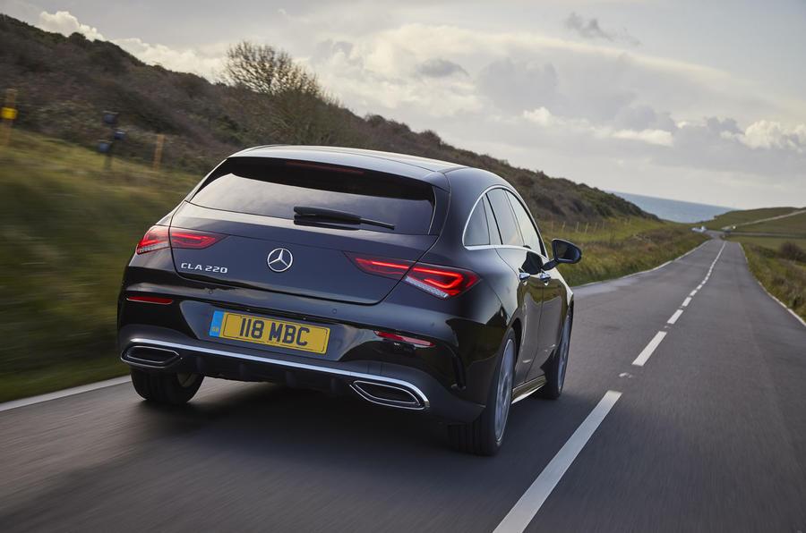 Mercedes-Benz CLA Shooting Brake 220d 2020 UK first drive review - hero rear