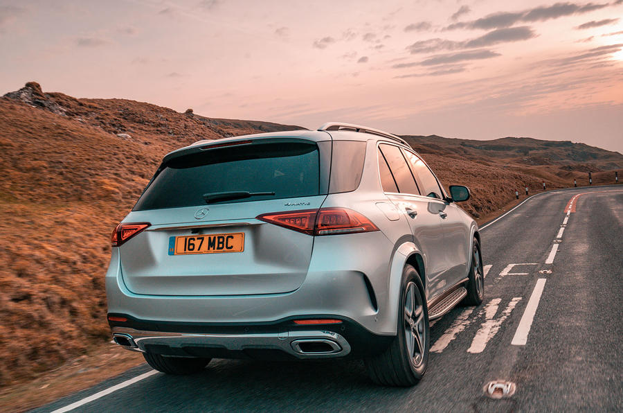 Mercedes-Benz GLE 400d 2019 UK first drive review - hero rear
