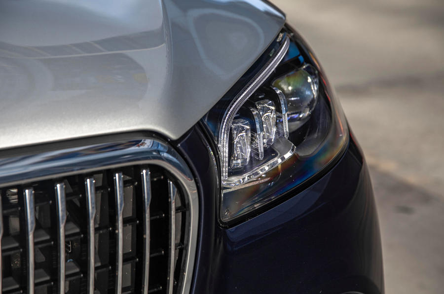 Mercedes-Maybach GLS 600 2020 first drive review - headlights