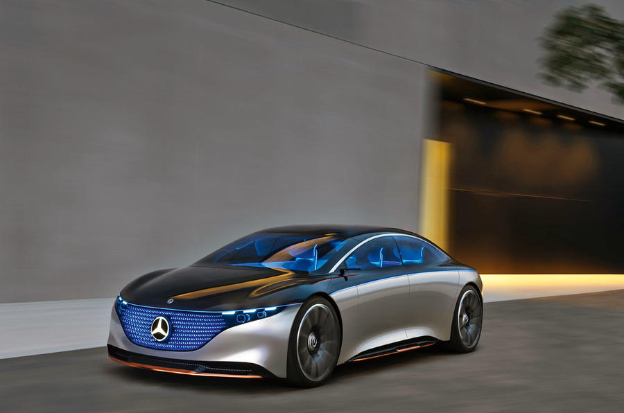 Mercedes Vision EQS concept 2019 - stationary front