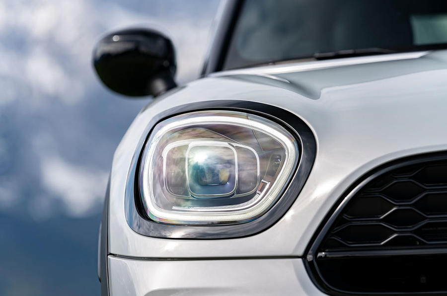 Mini Countryman Cooper S E All4 2020 first drive review - headlights