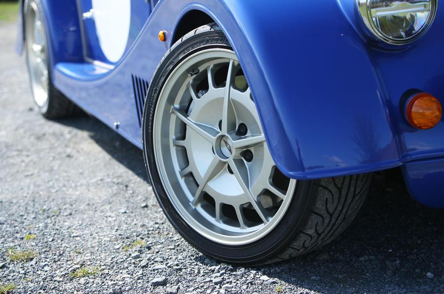 Morgan Plus 8 2018 review alloy wheels
