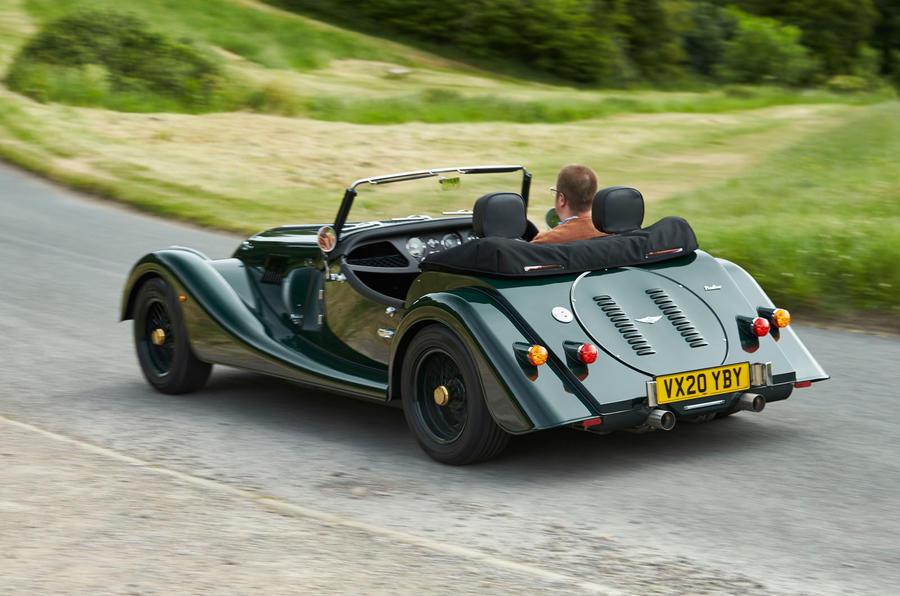 Morgan Plus Four 2020 UK first drive review - hero rear