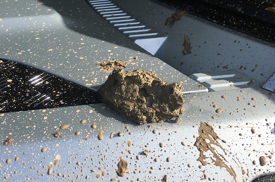 Mud on Land Rover