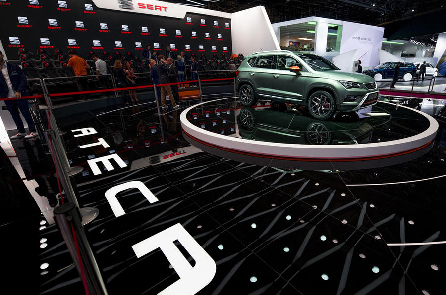 The SEAT stand at the Paris Motor Show