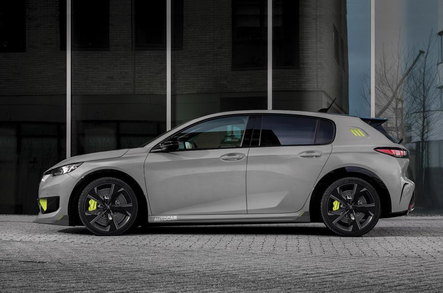 Peugeot 308 PSE render 2020 - static side