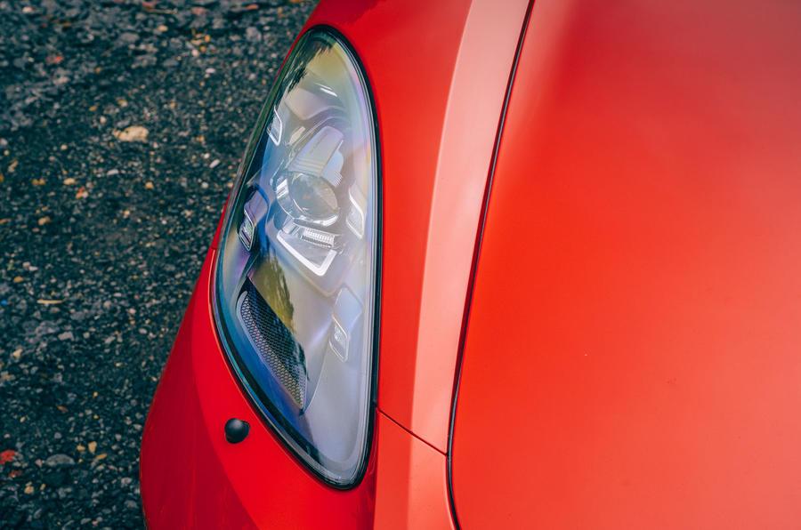 Porsche 718 Boxster GTS 4.0 2020 UK first drive review - headlights