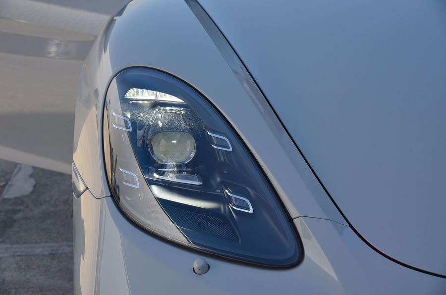 Porsche 718 Cayman GTS 2018 UK review headlights