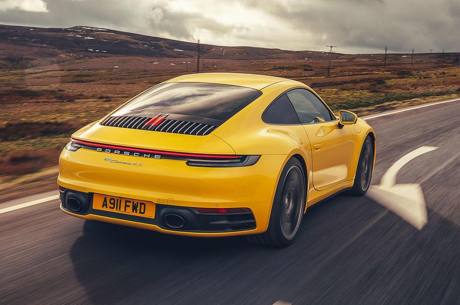 Porsche 911 Carrera 4S 2019 UK first drive review - hero rear