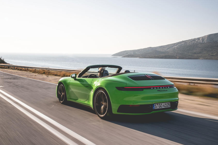 Porsche 911 Cabriolet 2019 first drive review - hero rear