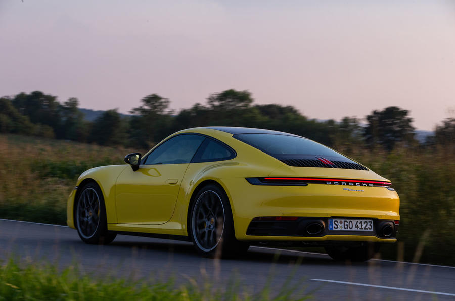 Porsche 911 Carrera 2019 first drive review - hero rear