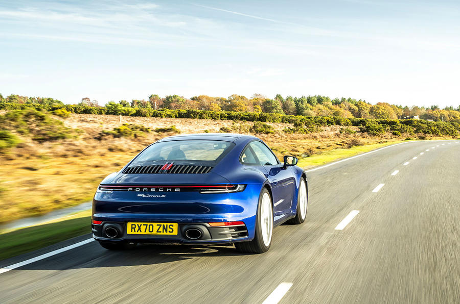 Porsche 911 Carrera S manual 2020 first drive review - hero rear