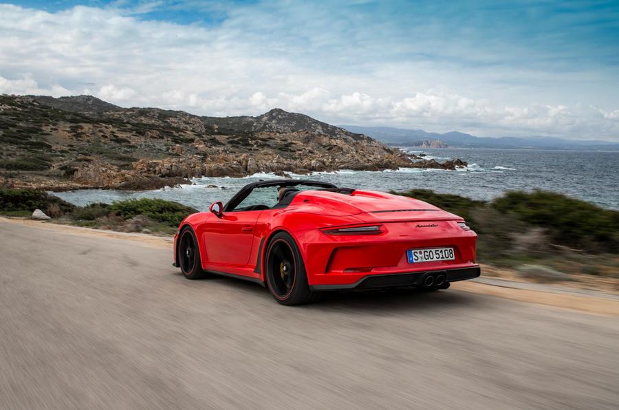 Porsche 911 Speedster 2019 first drive review - hero rear