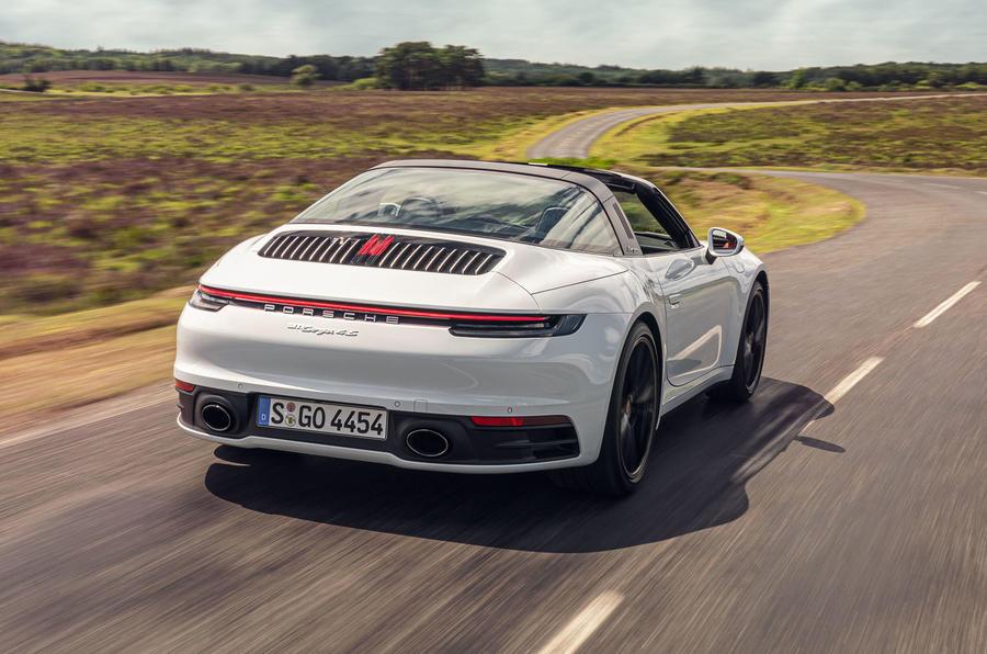 Porsche 911 Targa 2020 UK first drive review - hero rear