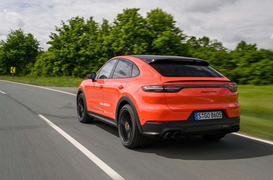 Porsche Cayenne Coupé 2019 first drive review - hero rear