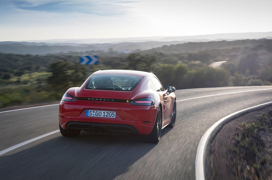 Porsche Cayman T 2019 first drive review - hero rear