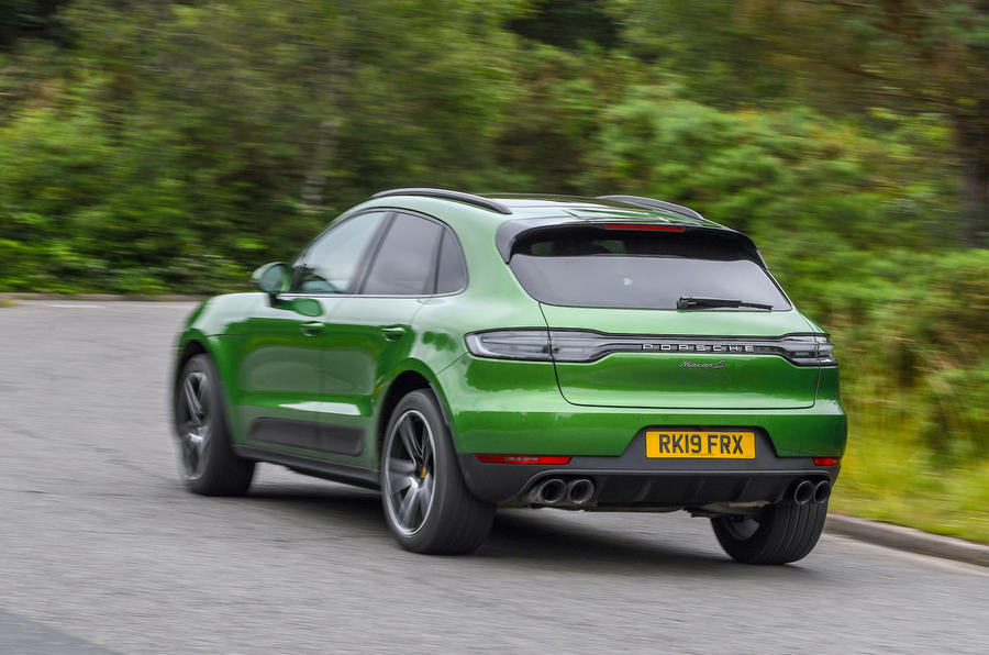 Porsche Macan S 2019 UK first drive review - hero rear