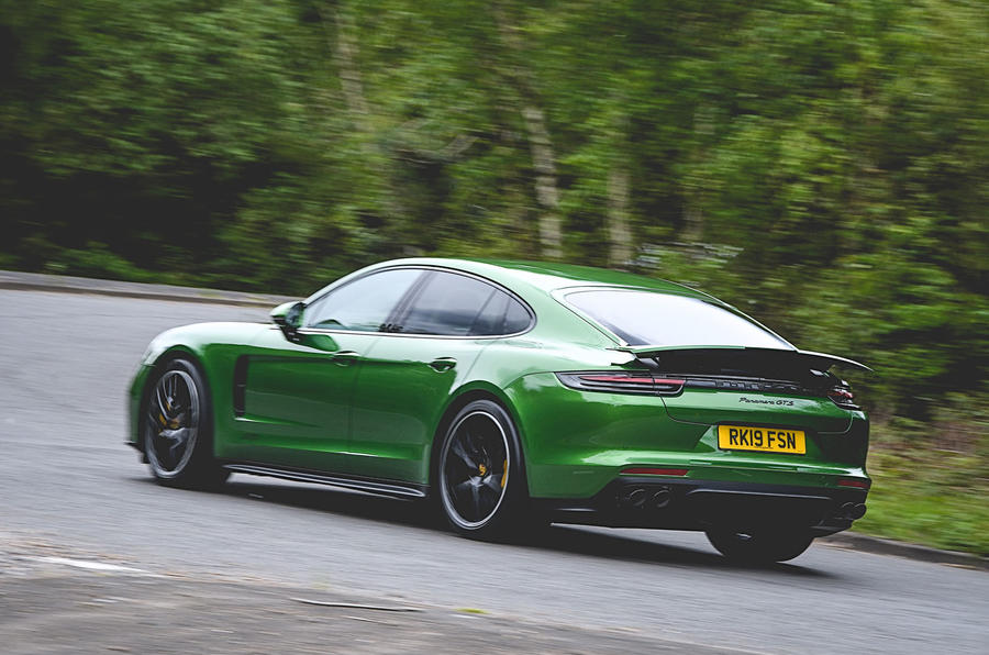 Porsche Panamera GTS 2019 UK first drive review - hero rear