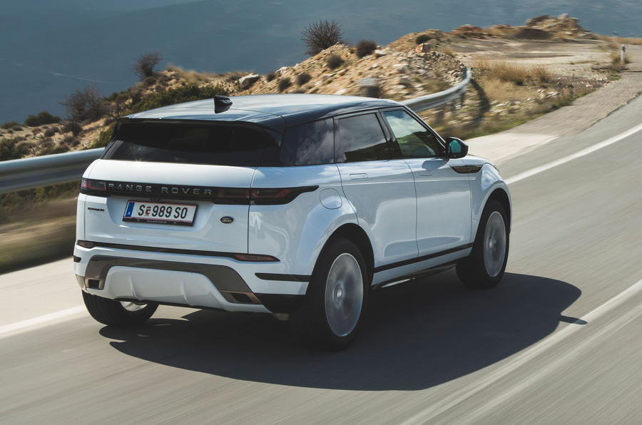 Range Rover Evoque 2019 first drive review - hero rear