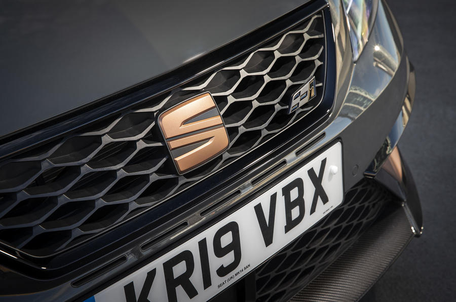 Seat Leon Cupra R ST Abt 2019 UK first drive review - bonnet badge