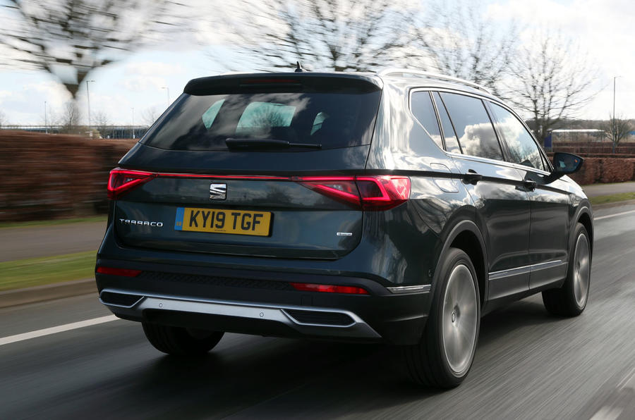 Seat Tarraco 2019 UK first drive review - hero rear