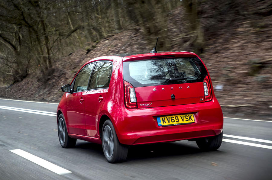 Skoda Citigo-e iV 2020 UK first drive review - hero rear