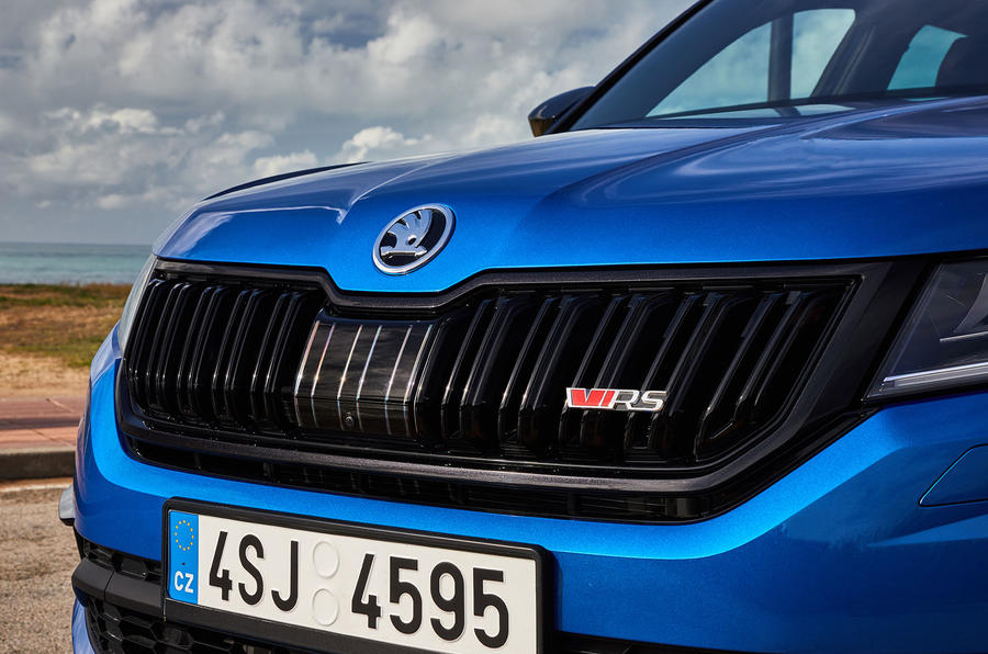 Skoda Kodiaq vRS 2018 first drive review - nose