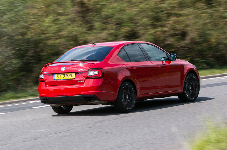 Skoda Octavia vRS Challenge 2019 UK first drive review - hero rear