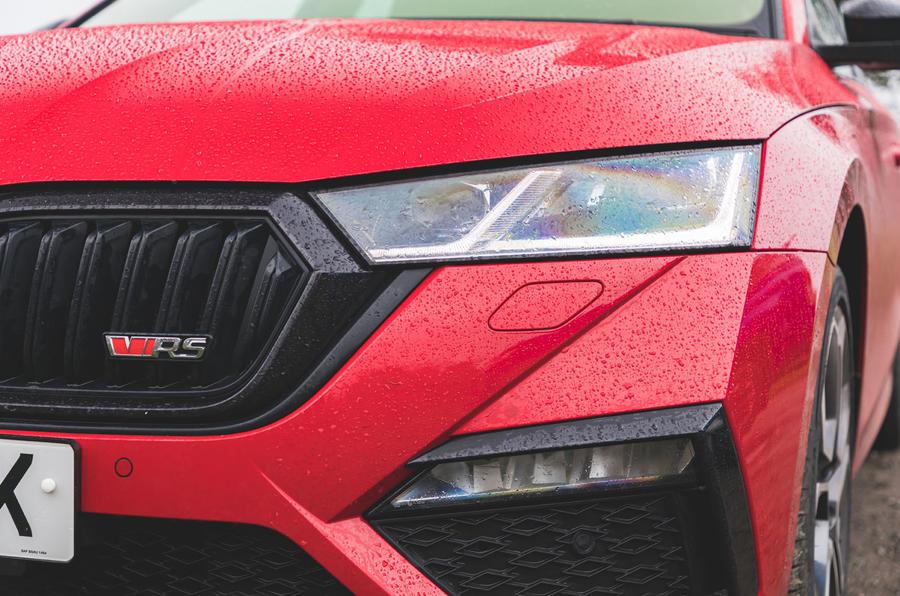 Skoda Octavia vRS iV 2020 UK First drive - nose badge