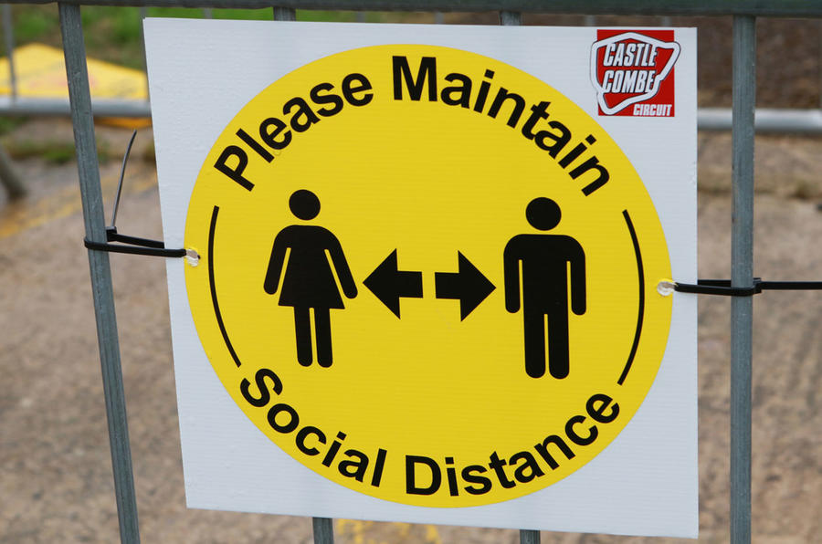 Social-distancing signs