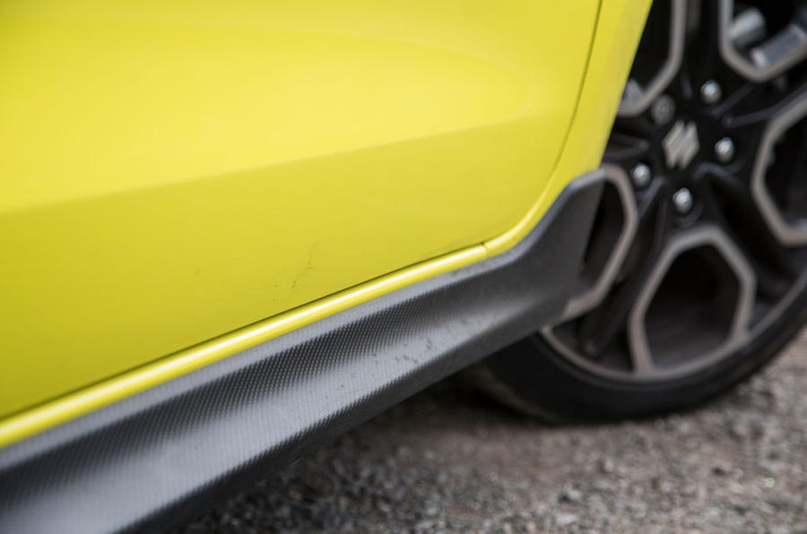 Suzuki Swift Sport 2018 long-term review side skirts