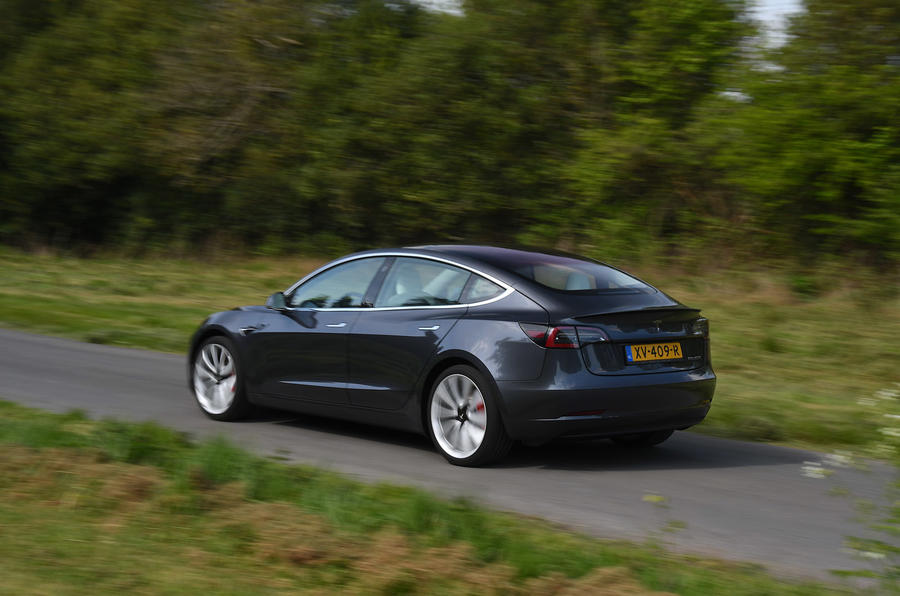 Tesla Model 3 Performance 2019 UK first drive review - hero rear