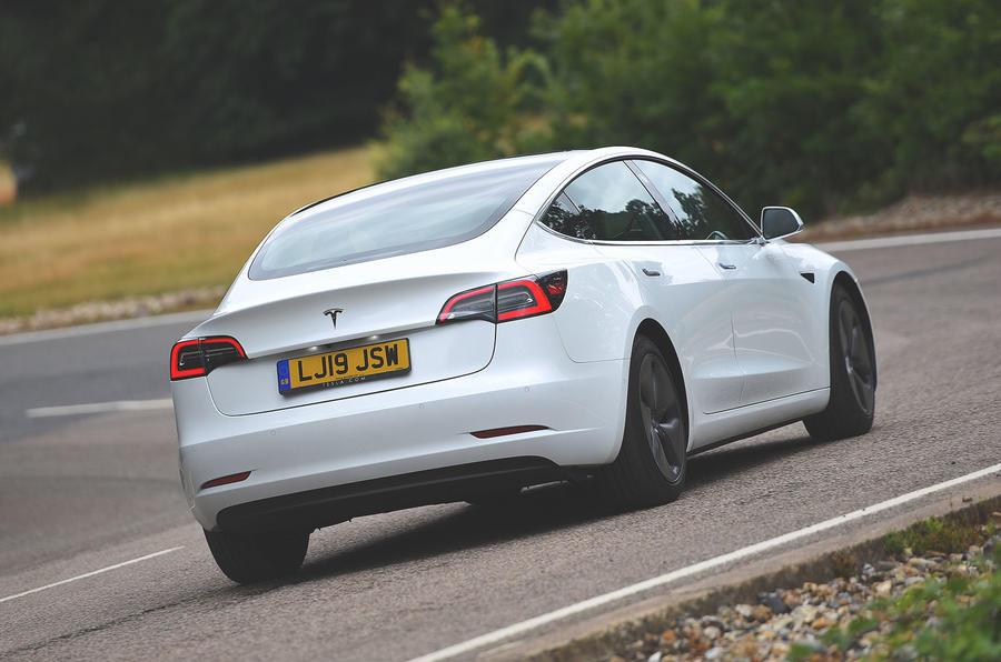 Tesla Model 3 Standard range Plus 2019 first drive review - hero rear