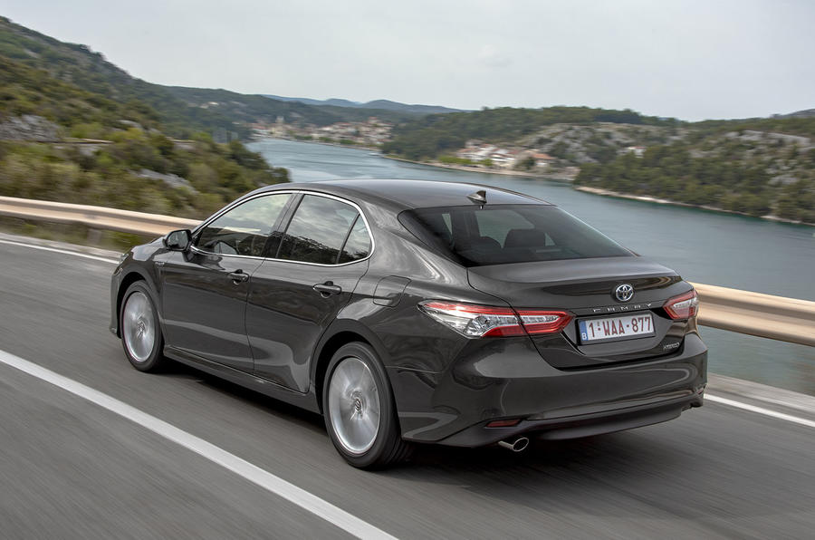 Toyota Camry 2019 European first drive review - hero rear