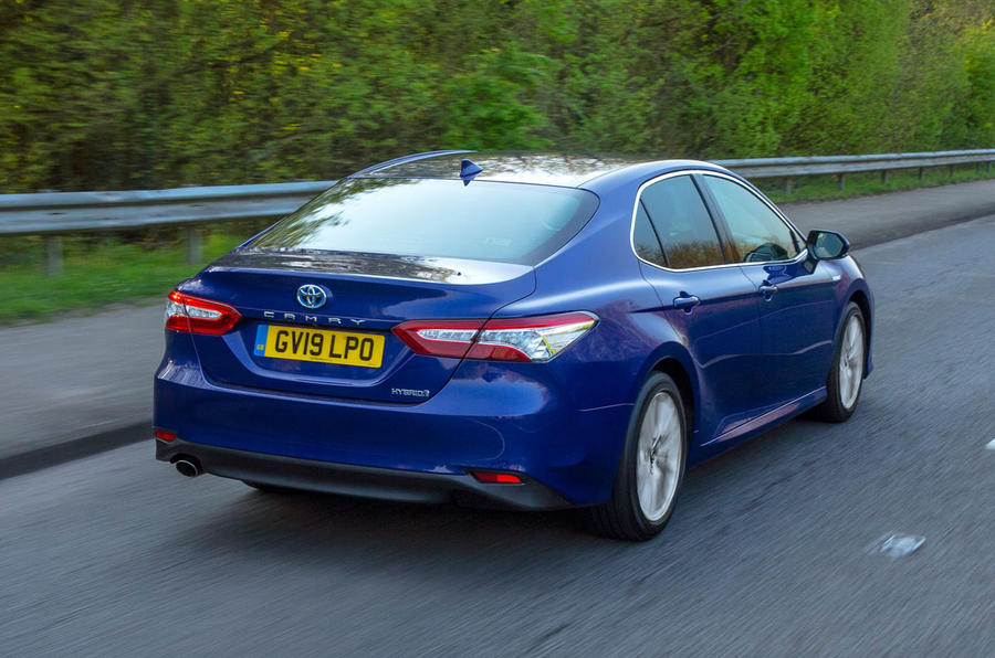 Toyota Camry 2019 UK first drive review - hero rear