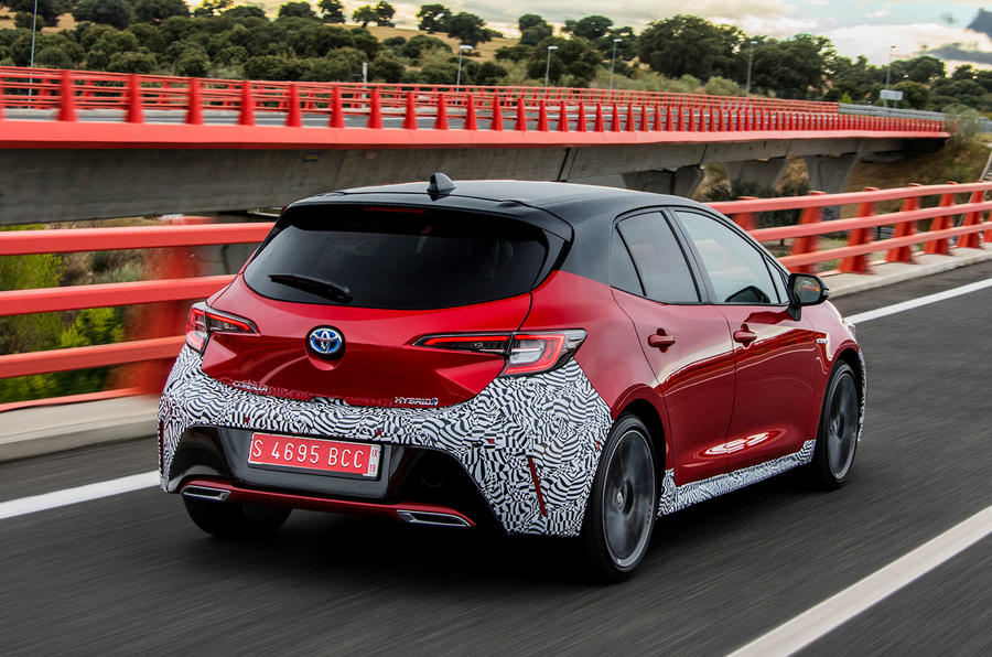 Toyota Corolla 2018 prototype first drive - hero rear