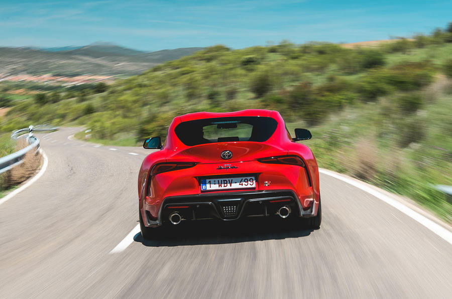 Toyota GR Supra 2019 first drive review - hero rear