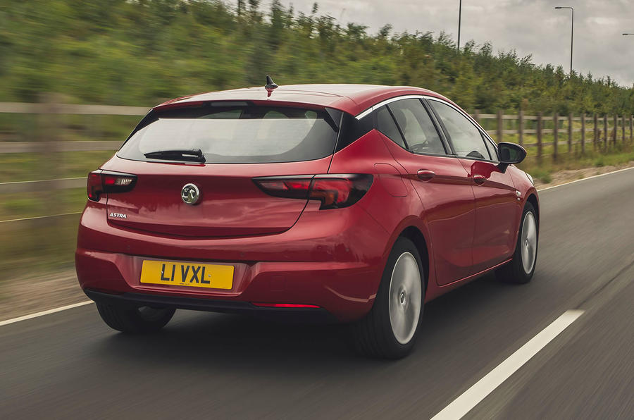 Vauxhall Astra 1.2 Elite Nav 2020 UK first drive review - hero rear