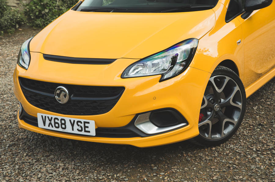 Vauxhall Corsa GSi 2018 UK first drive review front end