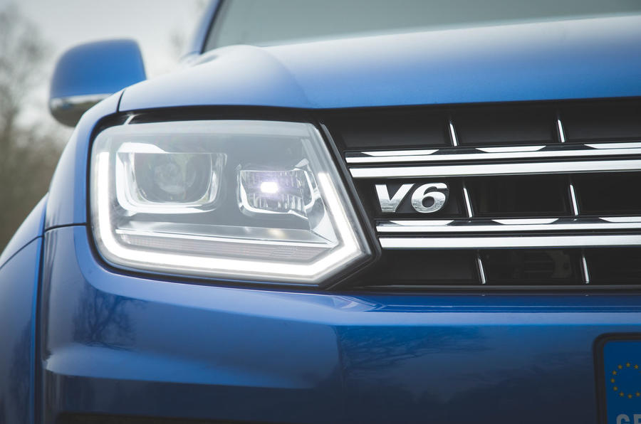 Volkswagen Amarok Aventura 2019 first drive review - headlights
