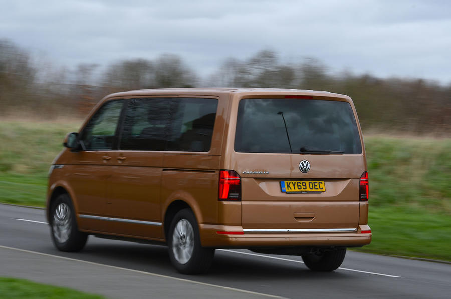 Volkswagen Caravelle 2020 UK first drive review - hero rear