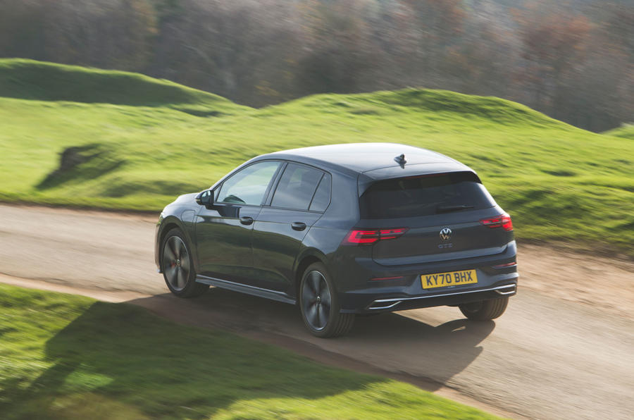 Volkswagen Golf GTE 2020 UK first drive review - hero rear