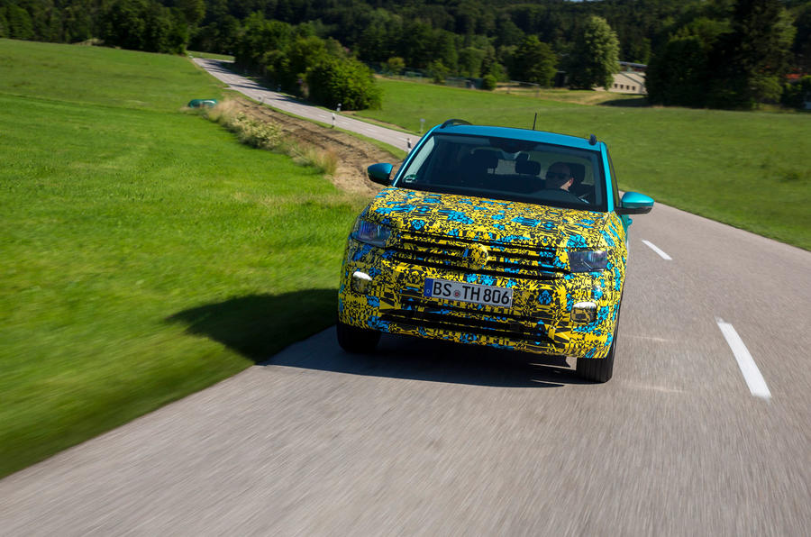 Volkswagen T-Cross prototype 2019 first drive review on the road