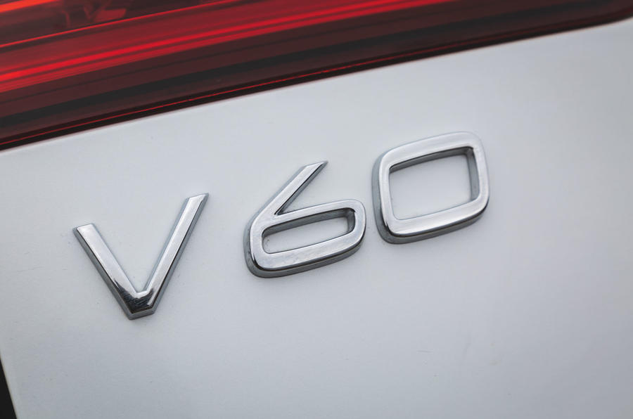 Volvo V60 Cross Country 2019 UK first drive review - rear badge