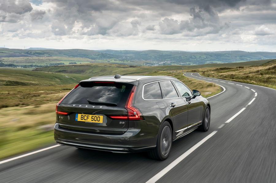 Volvo V90 B5 2020 UK first drive review - hero rear